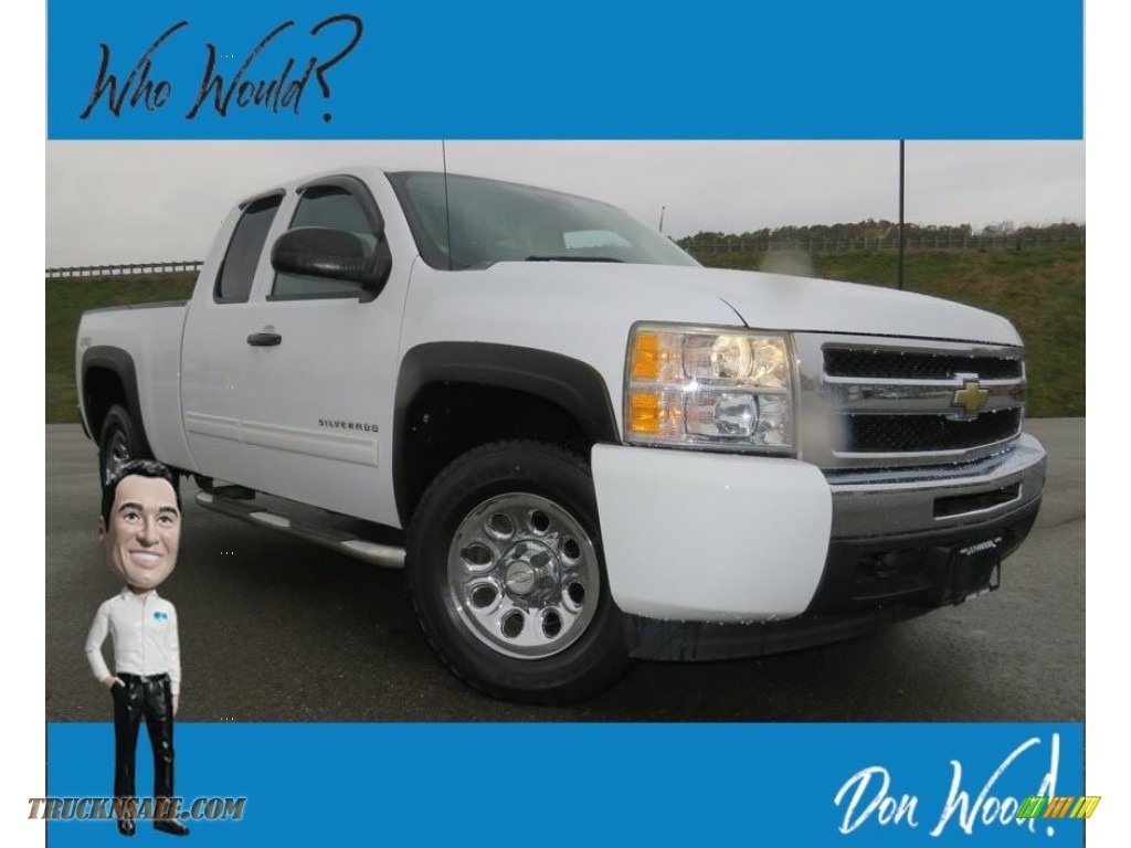 2010 Silverado 1500 LT Extended Cab 4x4 - Summit White / Dark Titanium photo #1