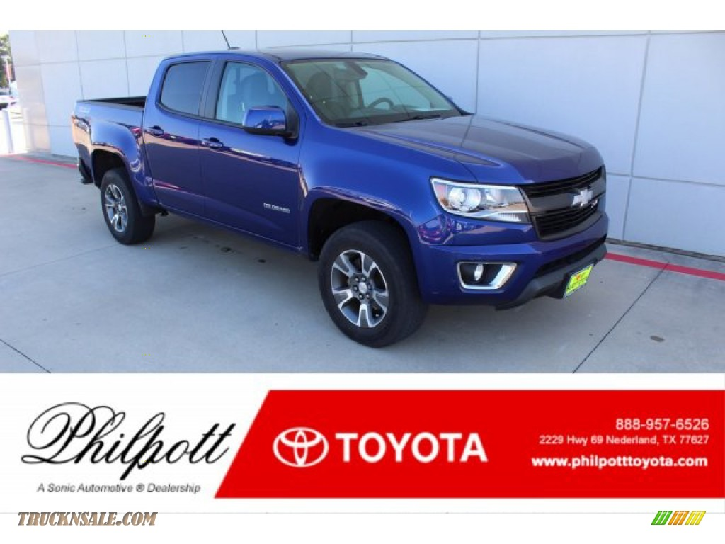 2016 Colorado Z71 Crew Cab 4x4 - Laser Blue / Jet Black photo #1