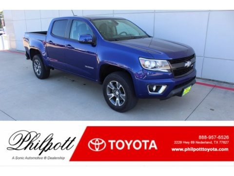 Laser Blue 2016 Chevrolet Colorado Z71 Crew Cab 4x4