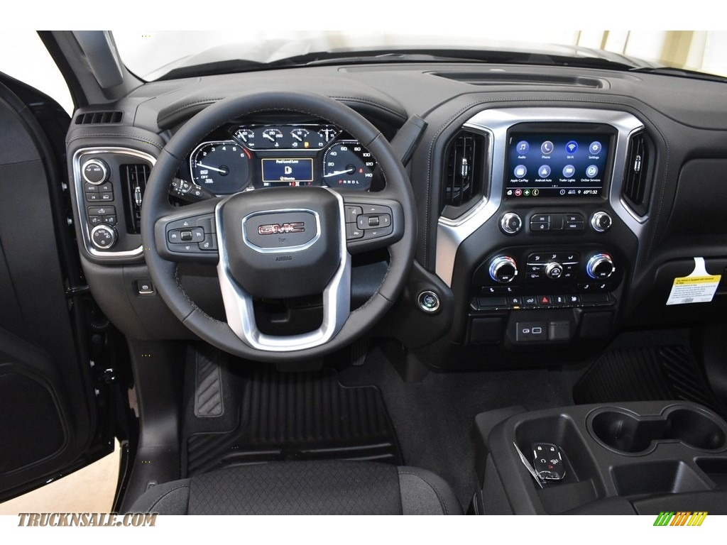 2020 Sierra 1500 SLE Double Cab 4WD - Onyx Black / Jet Black photo #8