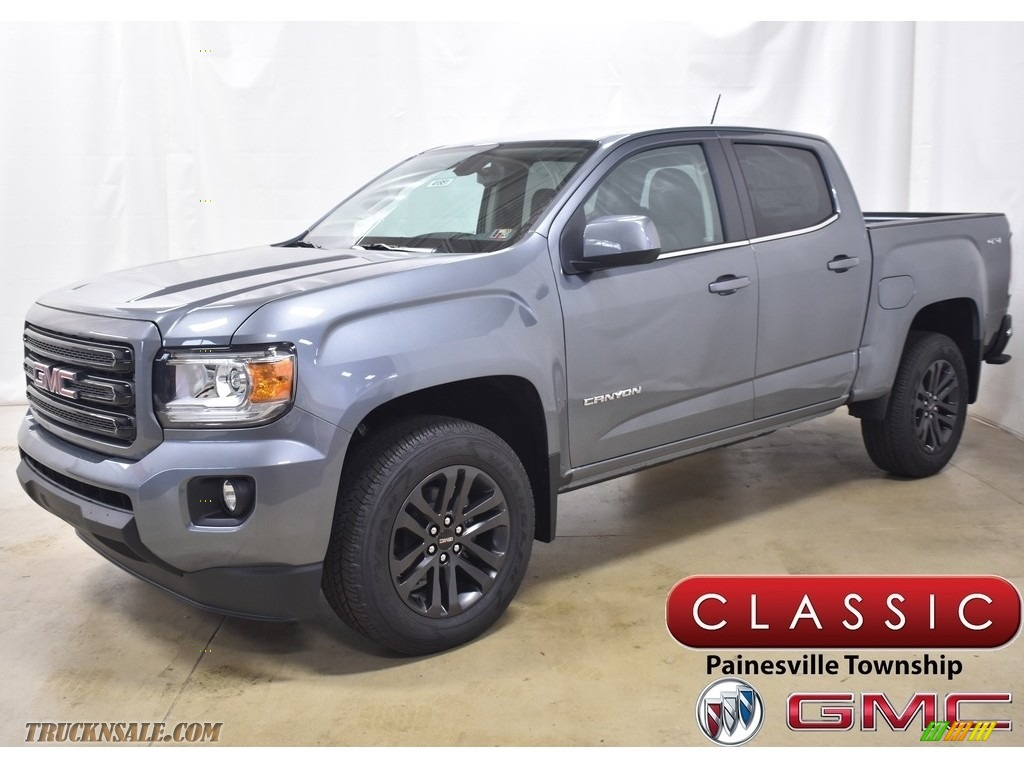 2020 Canyon SLE Crew Cab 4WD - Satin Steel Metallic / Jet Black photo #1