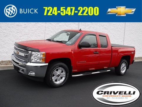 Victory Red 2013 Chevrolet Silverado 1500 LT Extended Cab 4x4