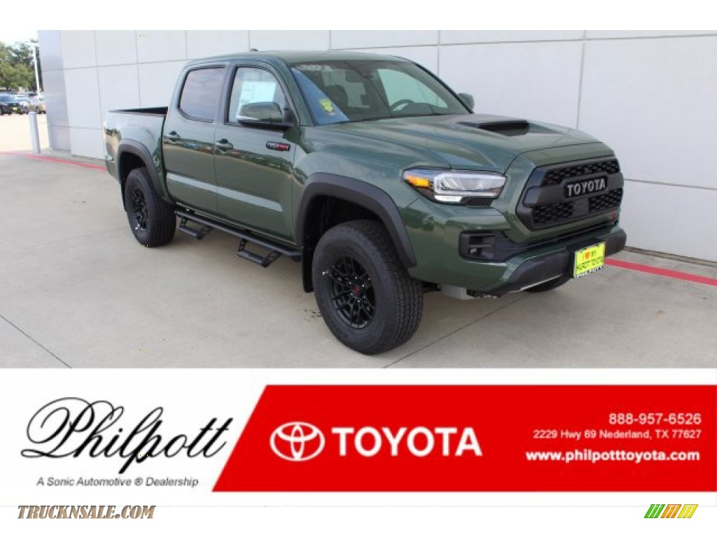 Army Green / Black Toyota Tacoma TRD Pro Double Cab 4x4