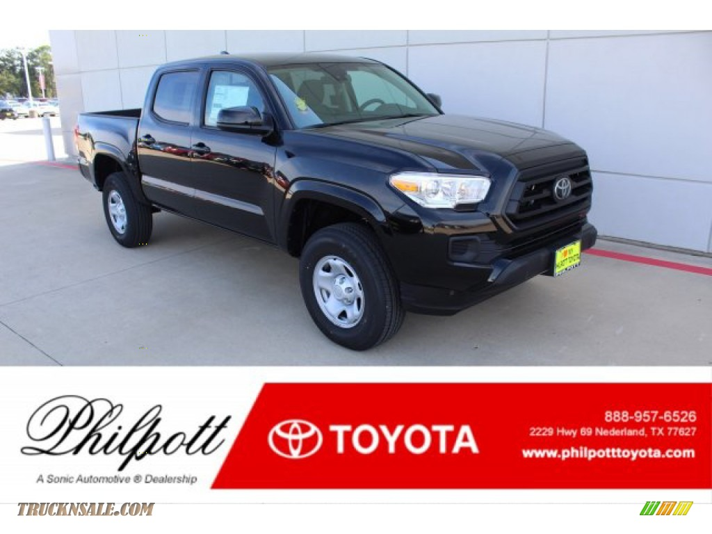 2020 Tacoma SR Double Cab - Midnight Black Metallic / Cement photo #1