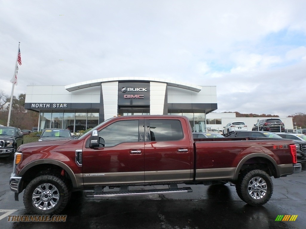 2017 F350 Super Duty Lariat Crew Cab 4x4 - Bronze Fire / Camel photo #1