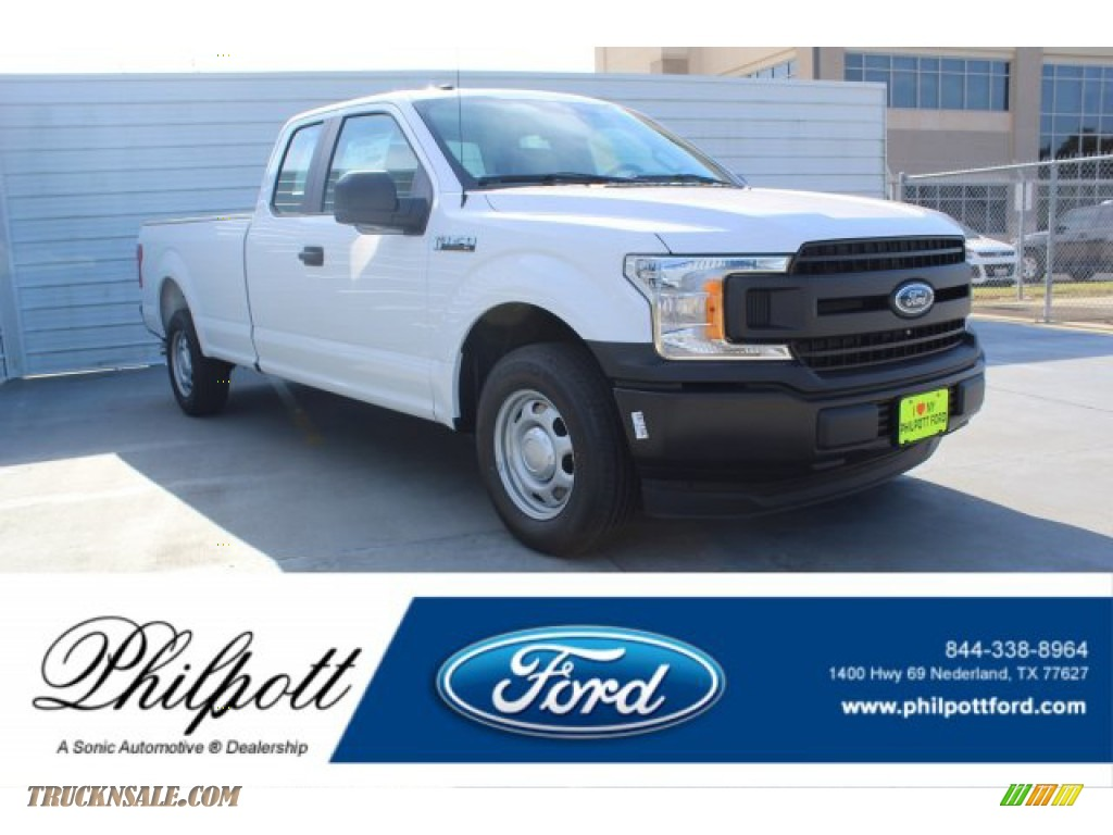 Oxford White / Earth Gray Ford F150 XL SuperCab