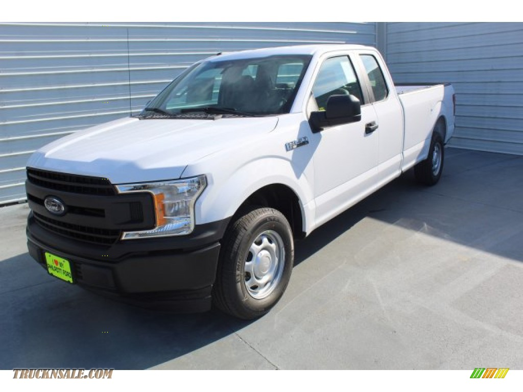 2019 F150 XL SuperCab - Oxford White / Earth Gray photo #4