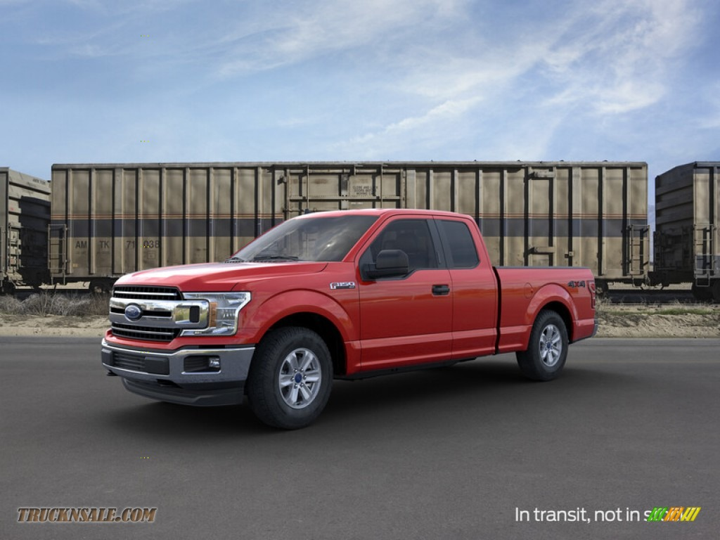 2019 F150 XLT SuperCab 4x4 - Race Red / Earth Gray photo #1
