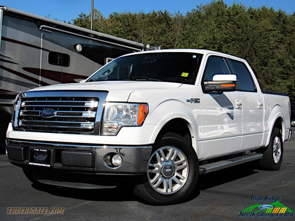 2013 F150 Lariat SuperCrew - Oxford White / Steel Gray photo #1