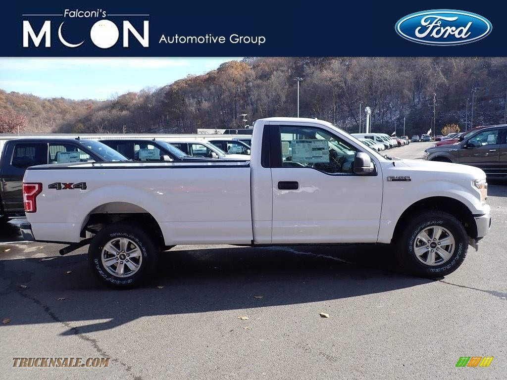Oxford White / Earth Gray Ford F150 XL Regular Cab 4x4