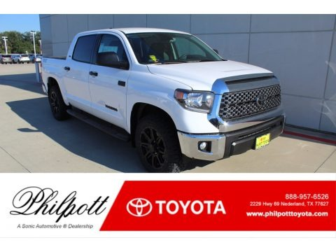 Super White 2020 Toyota Tundra TSS Off Road CrewMax