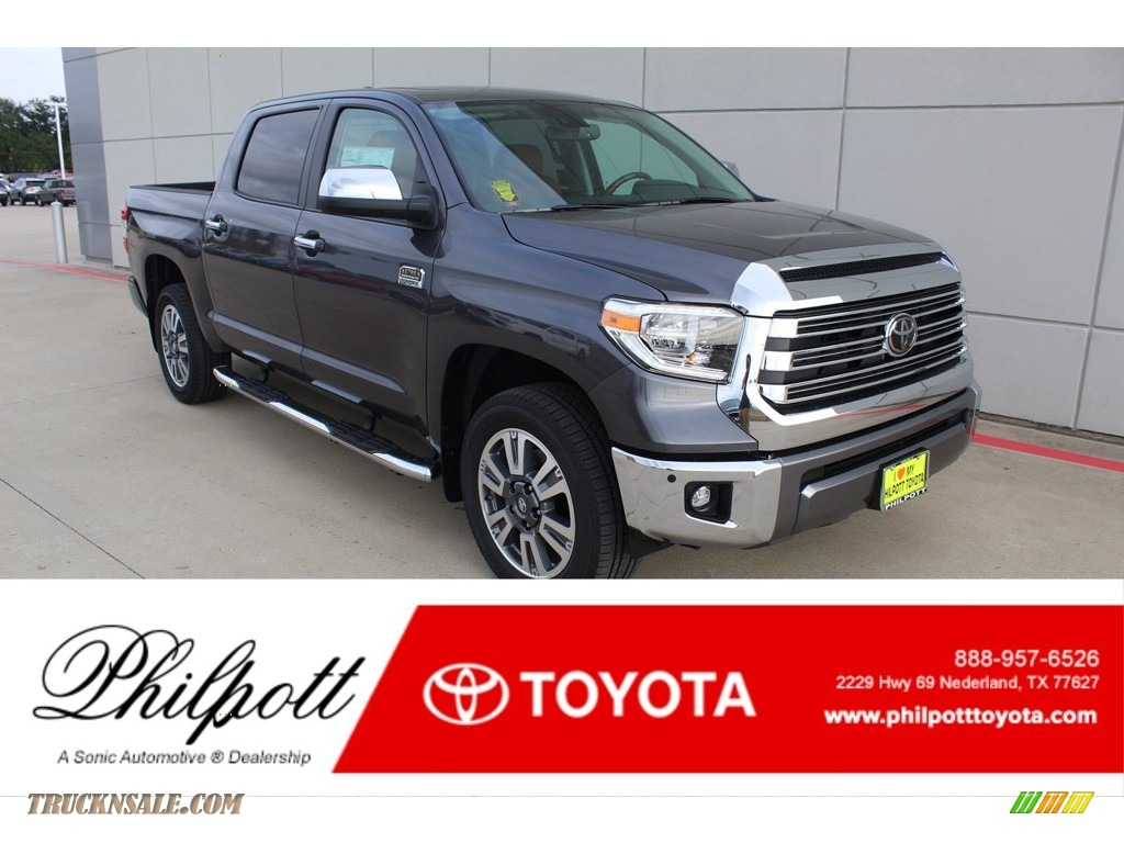 Magnetic Gray Metallic / 1794 Edition Brown/Black Toyota Tundra 1794 Edition CrewMax 4x4
