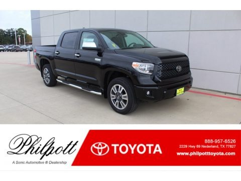 Midnight Black Metallic 2020 Toyota Tundra Platinum CrewMax 4x4