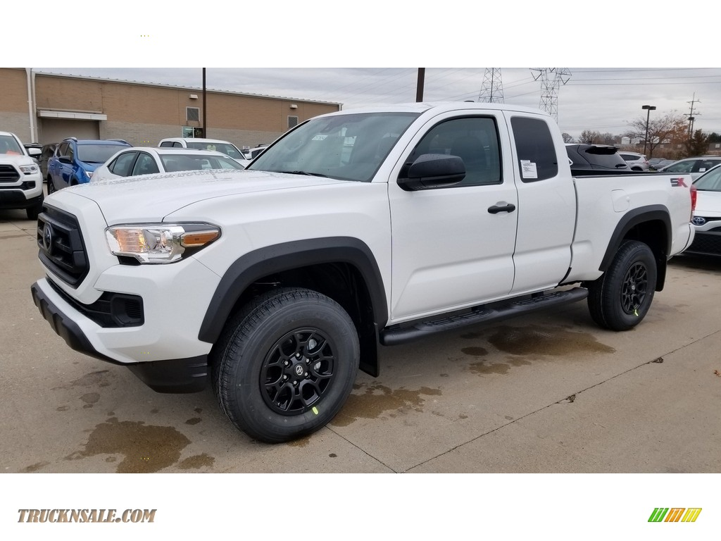 2020 Tacoma SX Double Cab 4x4 - Super White / Cement photo #1