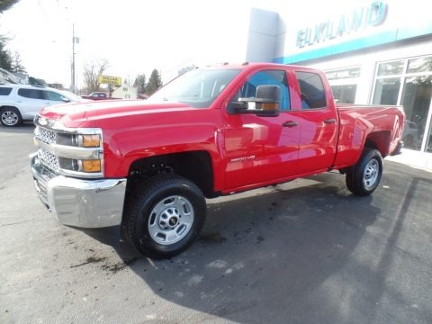 Red Hot 2019 Chevrolet Silverado 2500HD Work Truck Double Cab 4WD
