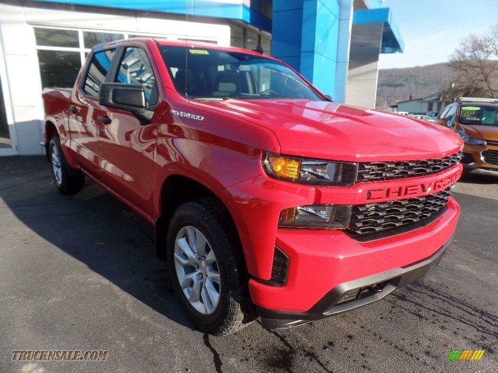 2020 Silverado 1500 Custom Crew Cab 4x4 - Red Hot / Jet Black photo #1