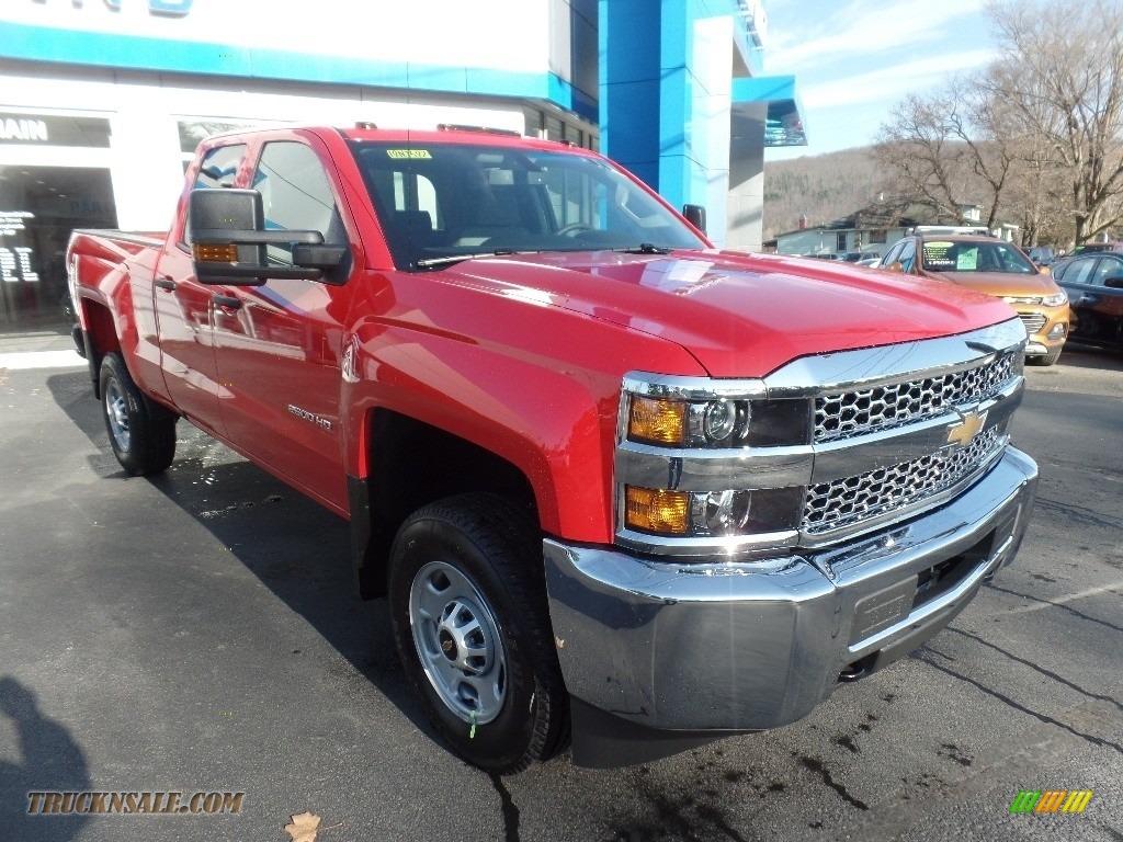 2019 Silverado 2500HD Work Truck Double Cab 4WD - Red Hot / Dark Ash/Jet Black photo #1