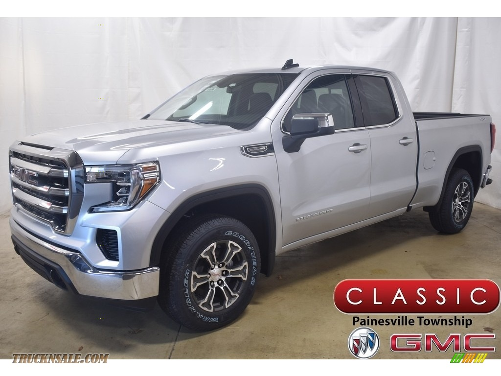 2020 Sierra 1500 SLE Double Cab 4WD - Quicksilver Metallic / Jet Black photo #1