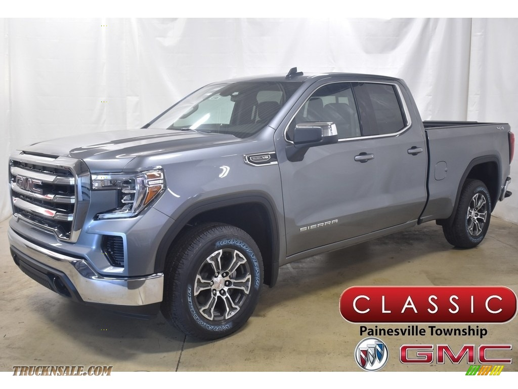 2020 Sierra 1500 SLE Crew Cab 4WD - Satin Steel Metallic / Jet Black photo #1