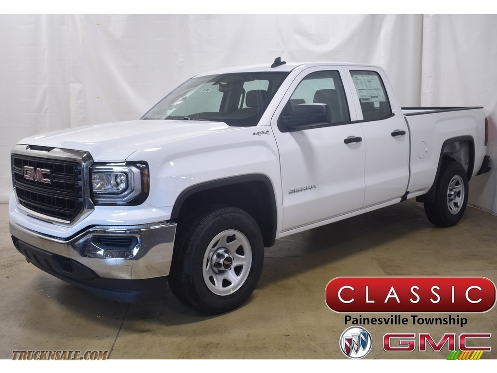 2019 Sierra 1500 Limited Double Cab 4WD - Summit White / Jet Black/Dark Ash photo #1