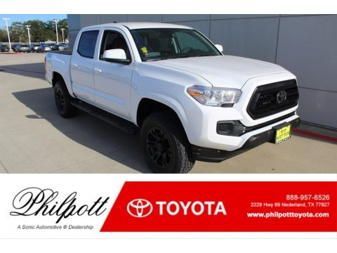 Super White 2020 Toyota Tacoma TSS Off Road Double Cab 4x4