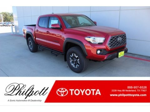 Barcelona Red Metallic 2020 Toyota Tacoma TRD Off Road Double Cab 4x4