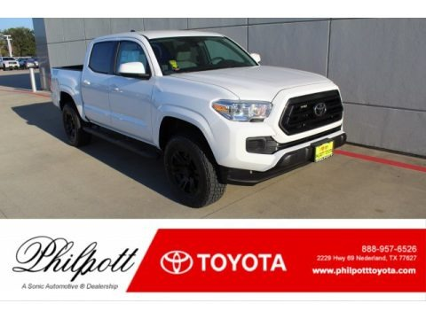 Super White 2020 Toyota Tacoma TSS Off Road Double Cab