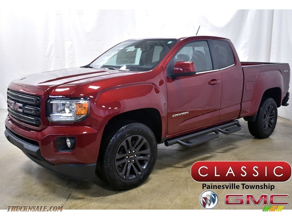 2020 Canyon SLE Extended Cab 4WD - Red Quartz Tintcoat / Jet Black photo #1