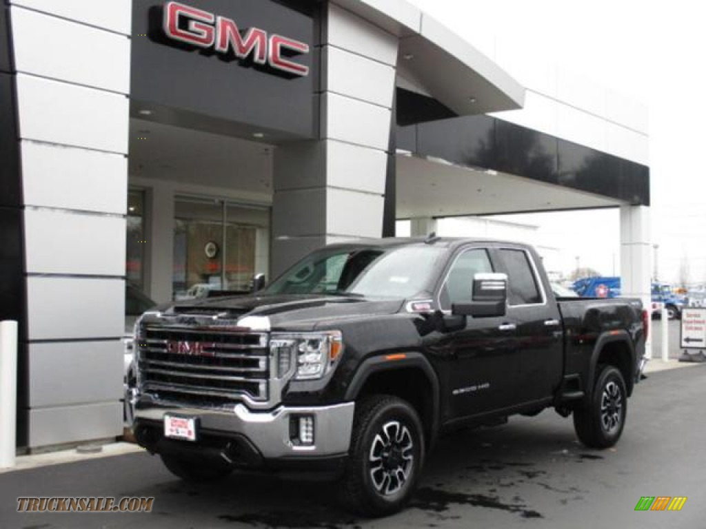 2020 Sierra 2500HD SLT Double Cab 4WD - Onyx Black / Jet Black photo #1