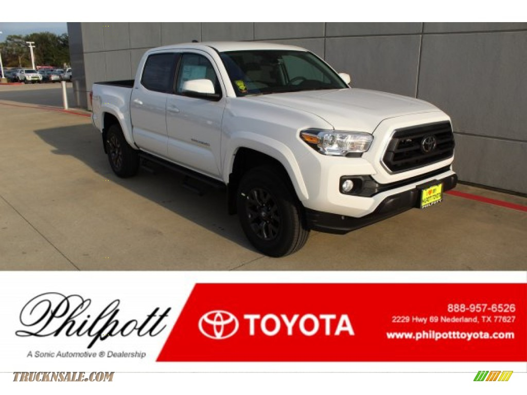 2020 Tacoma SR5 Double Cab 4x4 - Super White / Cement photo #1