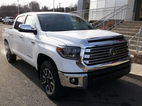 Super White 2020 Toyota Tundra Limited CrewMax 4x4