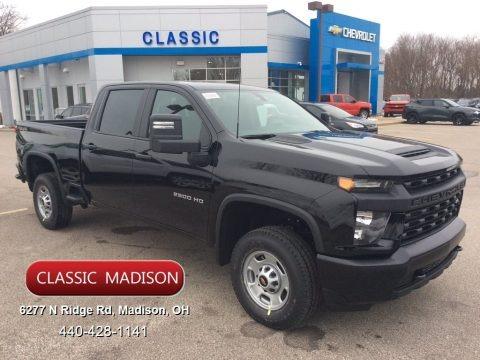 Black 2020 Chevrolet Silverado 2500HD Work Truck Crew Cab 4x4
