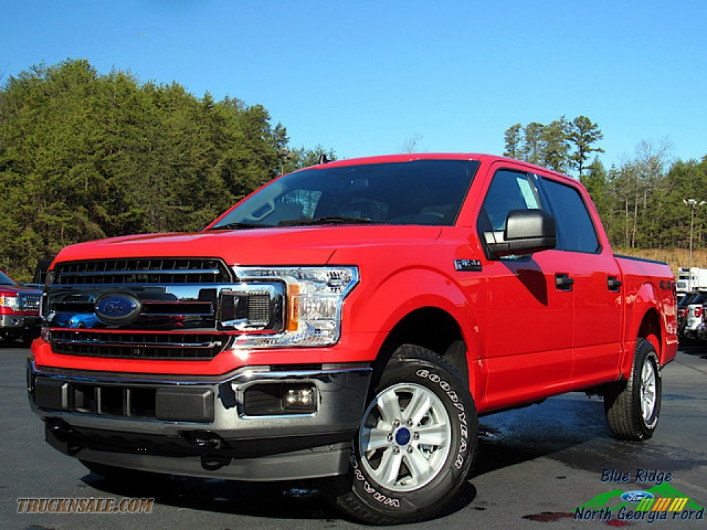 2020 F150 XLT SuperCrew 4x4 - Race Red / Medium Earth Gray photo #1