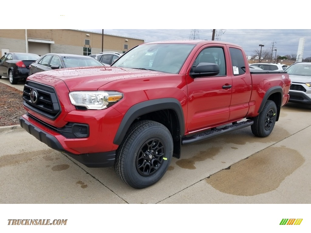 2020 Tacoma SR Access Cab 4x4 - Barcelona Red Metallic / Cement photo #1
