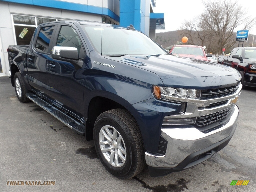 2020 Silverado 1500 LT Crew Cab 4x4 - Northsky Blue Metallic / Jet Black photo #1