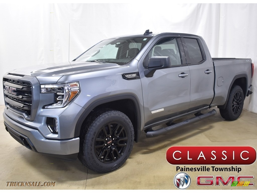 2020 Sierra 1500 Elevation Double Cab 4WD - Satin Steel Metallic / Jet Black photo #1