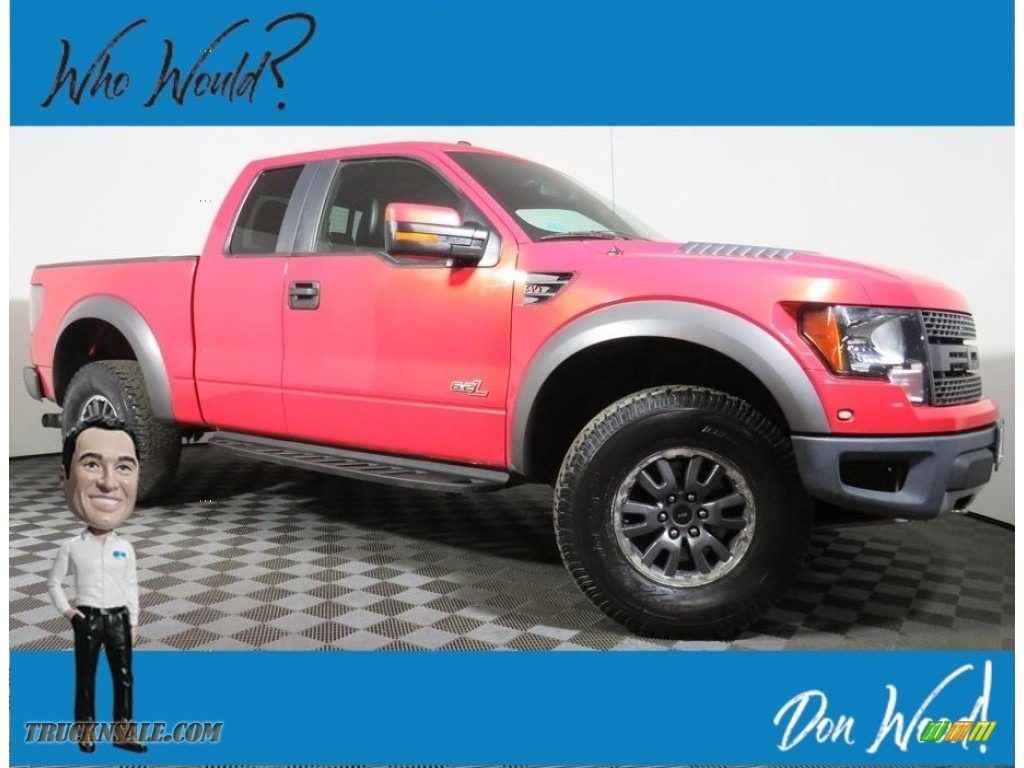 2011 F150 SVT Raptor SuperCab 4x4 - Molten Orange Tri Coat / Black photo #1