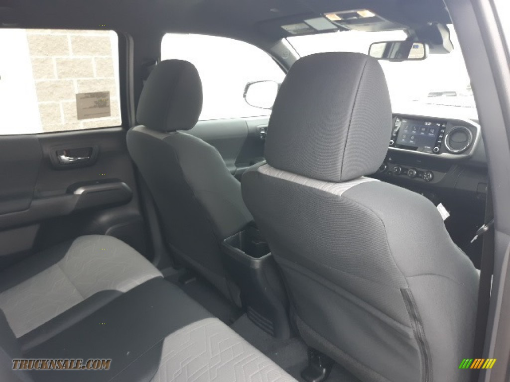 2020 Tacoma TRD Sport Double Cab 4x4 - Midnight Black Metallic / TRD Cement/Black photo #25