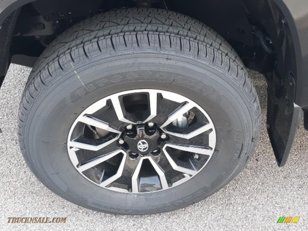 2020 Tacoma TRD Sport Double Cab 4x4 - Midnight Black Metallic / TRD Cement/Black photo #38