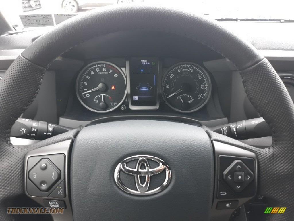 2020 Tacoma TRD Sport Double Cab 4x4 - Midnight Black Metallic / TRD Cement/Black photo #39