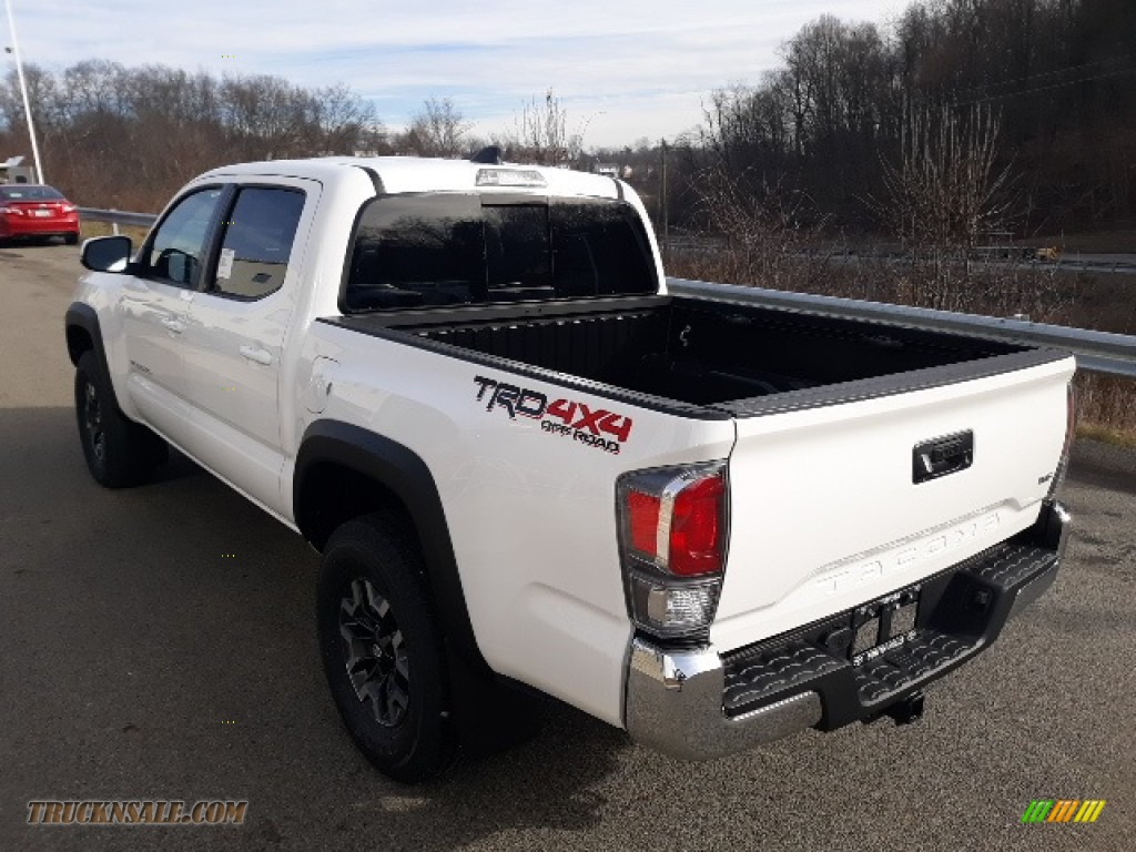 2020 Tacoma TRD Sport Double Cab 4x4 - Super White / TRD Cement/Black photo #2