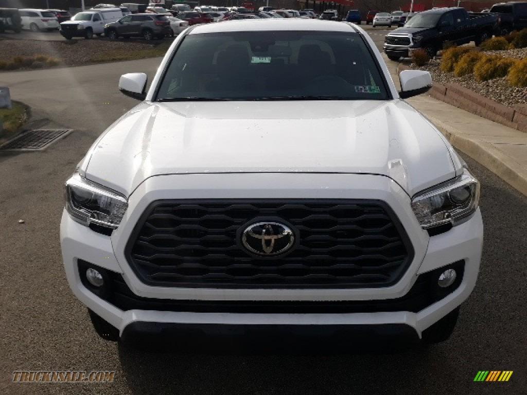 2020 Tacoma TRD Sport Double Cab 4x4 - Super White / TRD Cement/Black photo #31