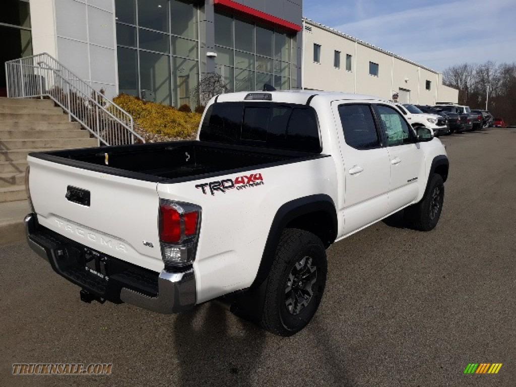 2020 Tacoma TRD Sport Double Cab 4x4 - Super White / TRD Cement/Black photo #33