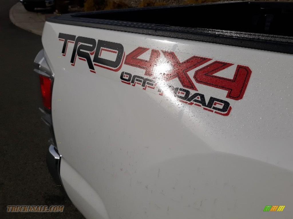 2020 Tacoma TRD Sport Double Cab 4x4 - Super White / TRD Cement/Black photo #36