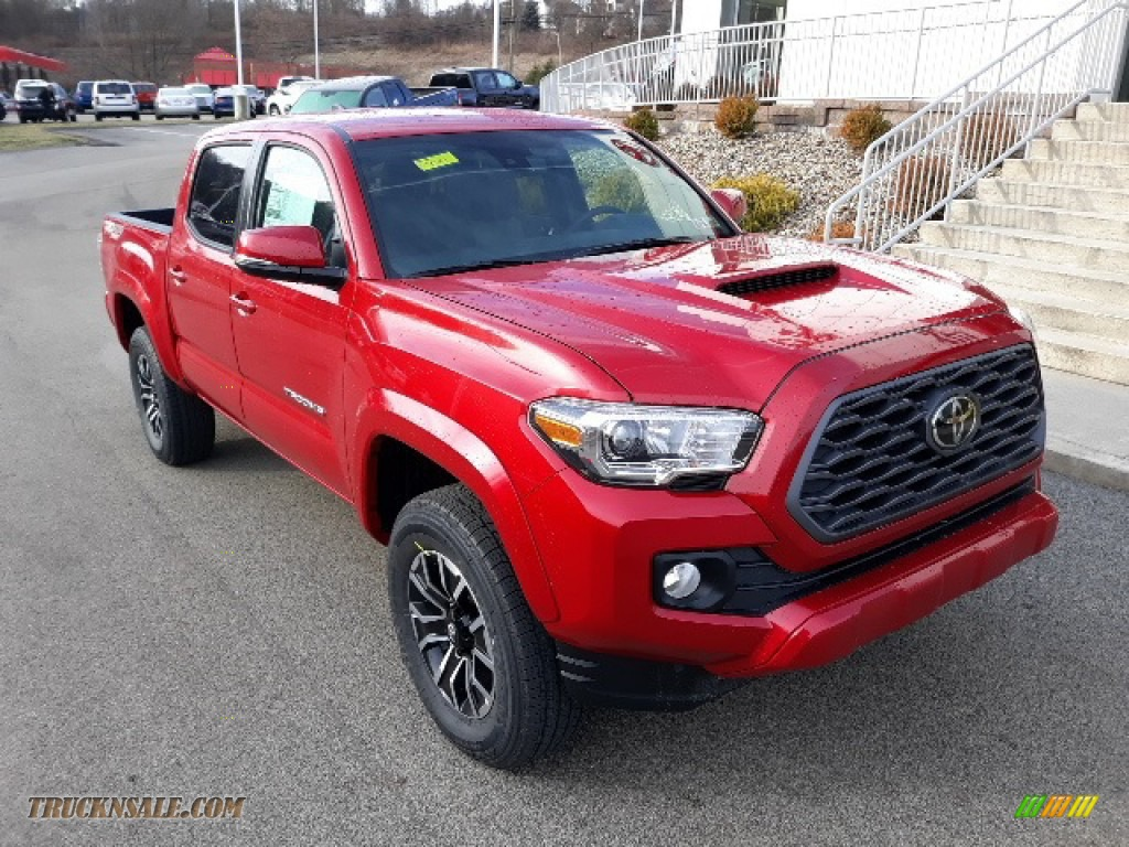 Barcelona Red Metallic / TRD Cement/Black Toyota Tacoma TRD Sport Double Cab 4x4