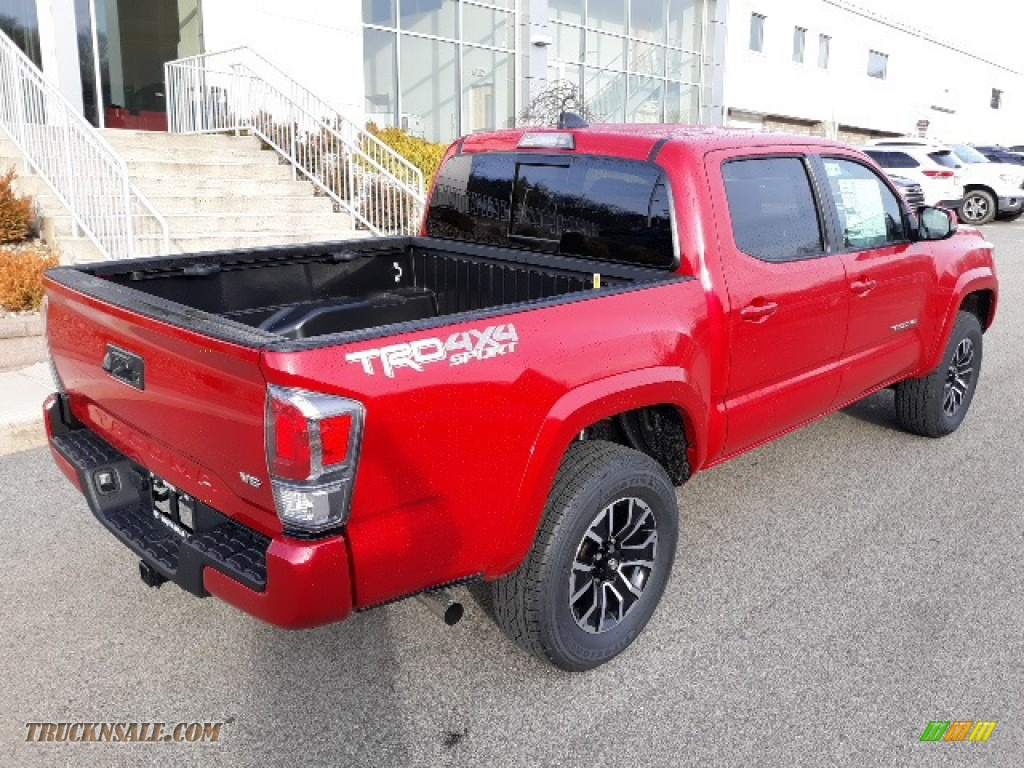 2020 Tacoma TRD Sport Double Cab 4x4 - Barcelona Red Metallic / TRD Cement/Black photo #35