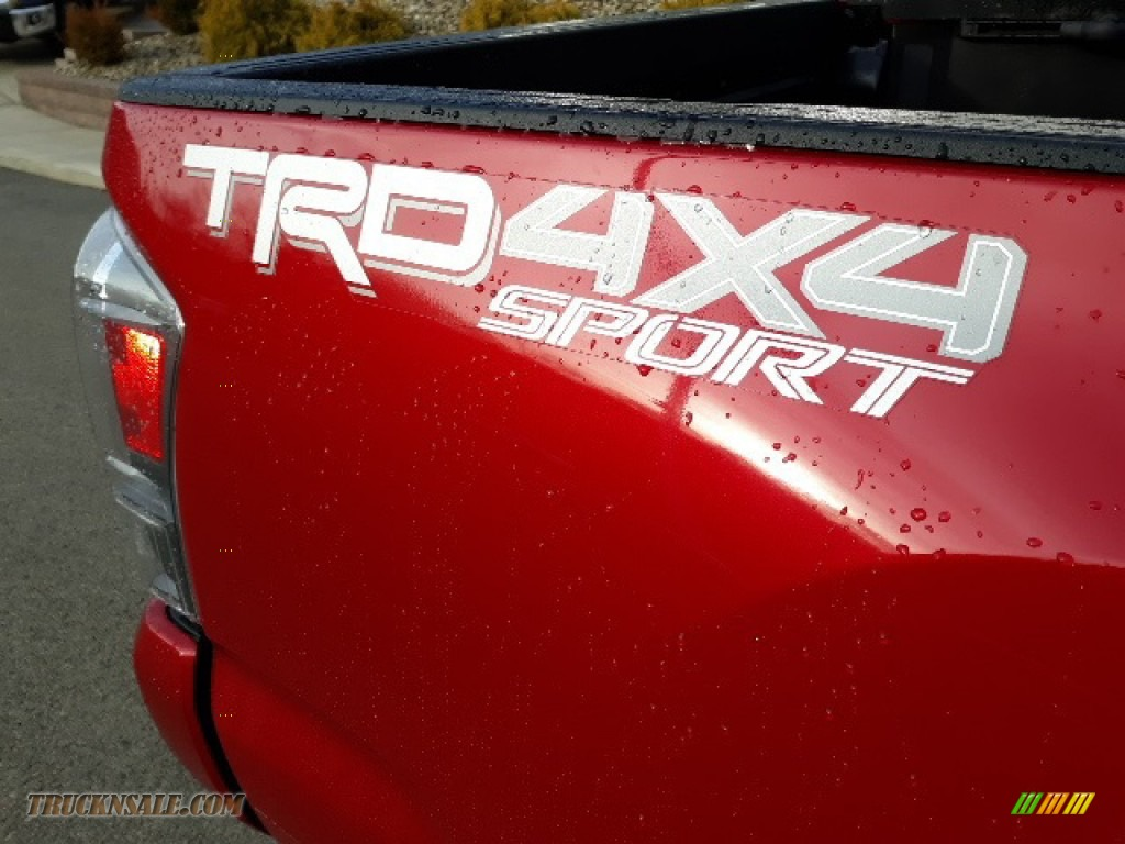 2020 Tacoma TRD Sport Double Cab 4x4 - Barcelona Red Metallic / TRD Cement/Black photo #38