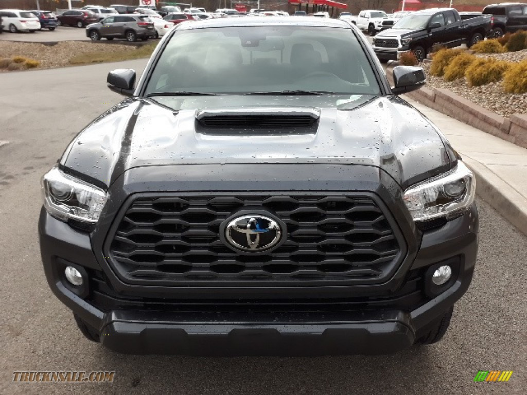 2020 Tacoma TRD Sport Double Cab 4x4 - Magnetic Gray Metallic / TRD Cement/Black photo #31