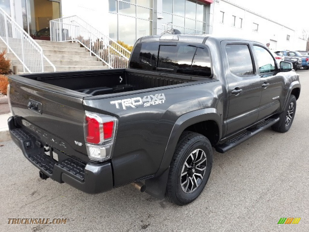 2020 Tacoma TRD Sport Double Cab 4x4 - Magnetic Gray Metallic / TRD Cement/Black photo #33