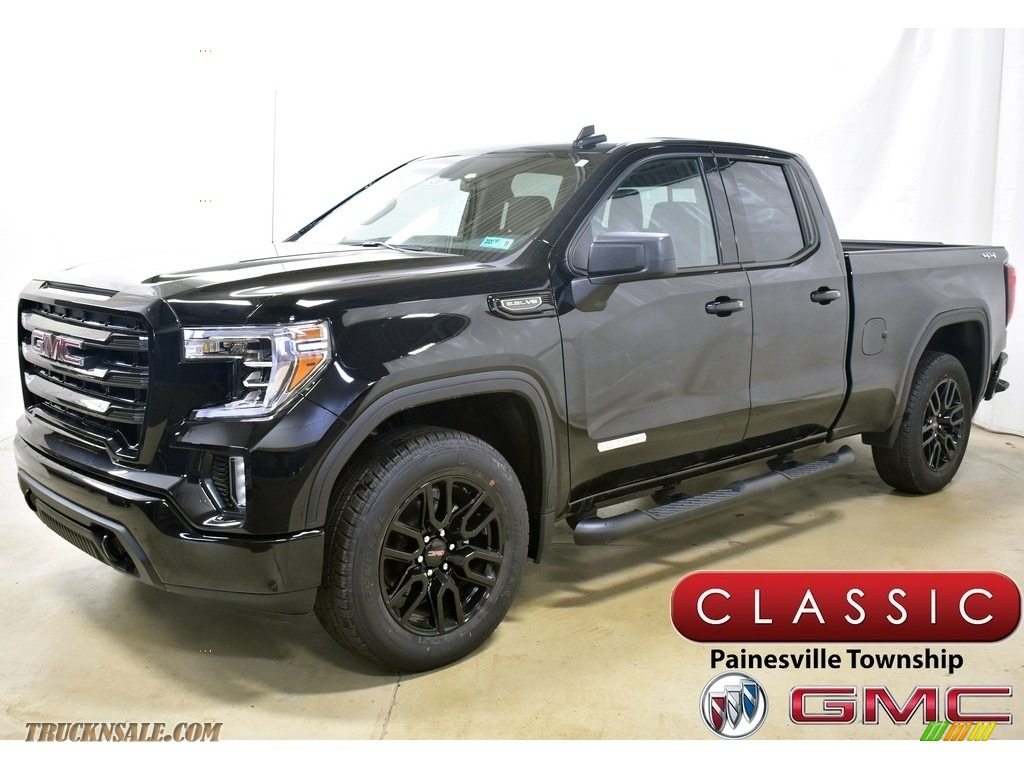 2020 Sierra 1500 Elevation Double Cab 4WD - Onyx Black / Jet Black photo #1